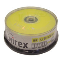 Mirex DVD-R 4.7Gb 16x Cake box 10
