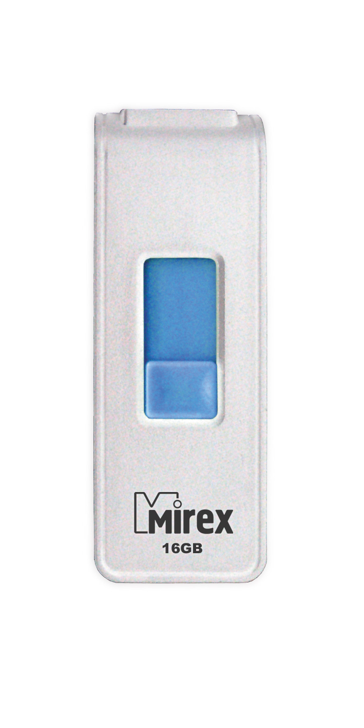 USB Flash Mirex SHOT white 16GB (ecopack)