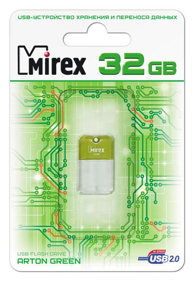 USB Flash Mirex ARTON GREEN 32GB (ecopack)