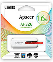 USB флэш-диск Apacer 16GB AH326 Retail White