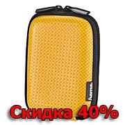 Чехол HAMA Carbon Style 40G оранжевый 6x2,5x9,5