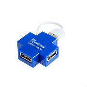 USB-Хaб Smartbuy на 4 порта синий в виде креста